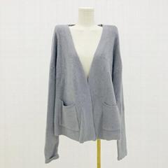 热卖v领长袖软针织女式开襟羊毛衫