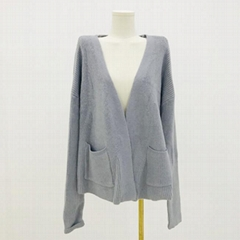 Hot selling V-Neck long sleeve soft knitted women's cardigan