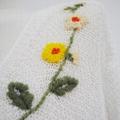 白色v領長袖針織短毛衣女女士 5