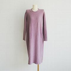 Women's long knit pullover sweater