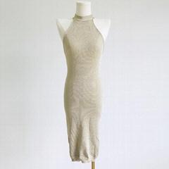 Women's casual gentle over the knee sleeveless sweater dress