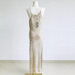 高质量的定制女士针织连衣裙无袖毛衣连衣裙女士