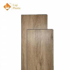 Cheap waterproof vinyl plank   T click PVC plank tiles customized dining room