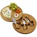 竹制圆形奶酪板