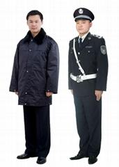 保安多功能大衣 保安多功能防寒棉服 保安執勤夾克