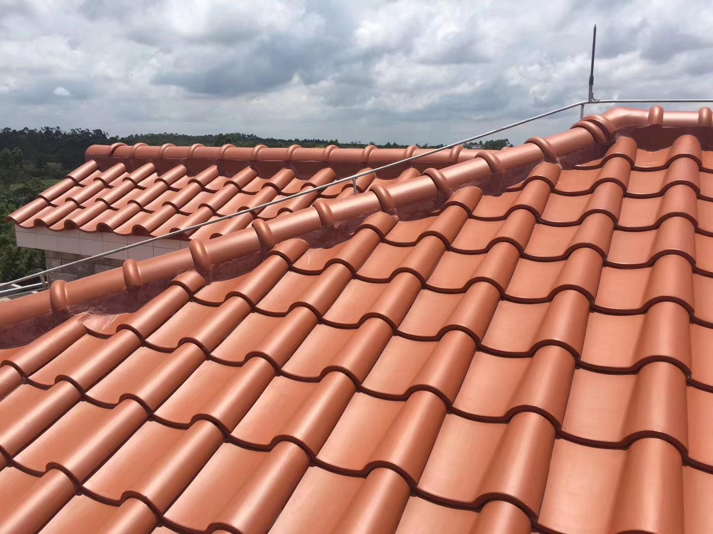 Foshan Clay glazed roof tile customized sevice  5