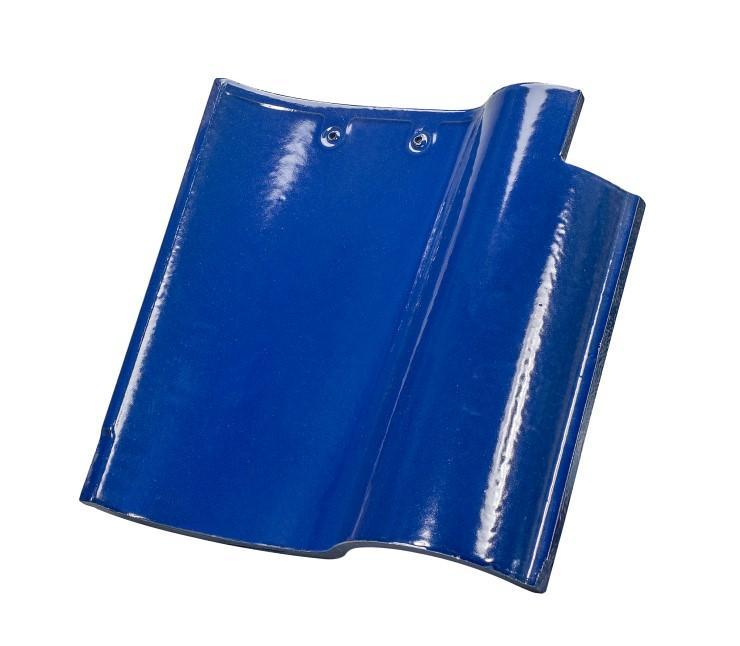 Blue color ceramic Spanish roof tile