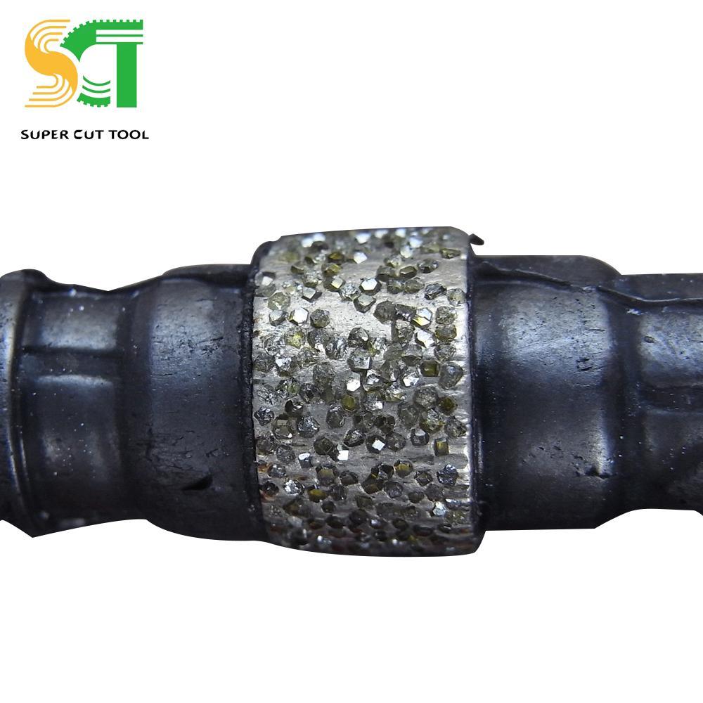 矿山开采金刚石绳锯用于混凝土石材荒料整形修边和异型石材加工 1