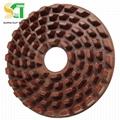 金刚石磨盘与树脂圆盘磨料用于花岗岩石材大板抛光 4