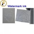 Watermark ink for screen printing of