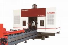 濟南光先數控三維鑽床400鋼結構立體車庫鋼構H鋼槽鋼方管生產線