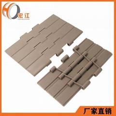 塑鋼POM傳送帶鏈板雙鉸平頂直鏈H821