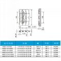 塑钢POM传送带链板双铰平顶直链H821 5