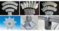 输送设备配件转弯输送机传动链齿型柔性塑料链板XH103 5