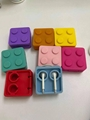 Toy block-shaped earphone winder storage collect case