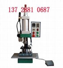 竹木制品商标烫印机塑料商标压印机厨具木柄商标烫印家具打标机