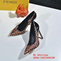 2020 fashion  FENDI shoes Wholesale FENDI Women's Leather Shoes