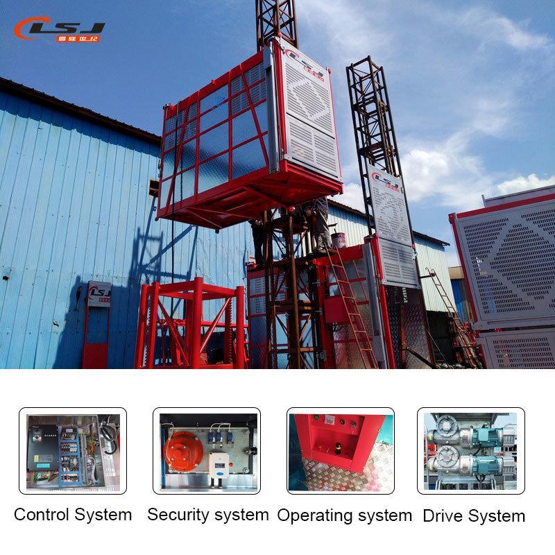Industry Lift Construction Elevator Passenger Hoist with Tower Crane