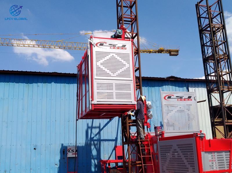 Industry Lift Construction Elevator Passenger Hoist with Tower Crane 4