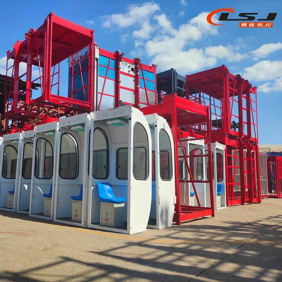 Industry Lift Construction Elevator Passenger Hoist with Tower Crane 5