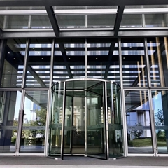 Crystal Automatic Revo  ing Door  Three Wings Automatic Revo  ing Door