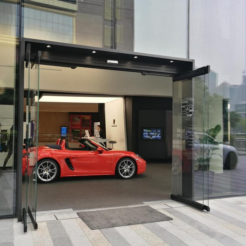 All Glass Panic Breakout Automatic Sliding Door  3