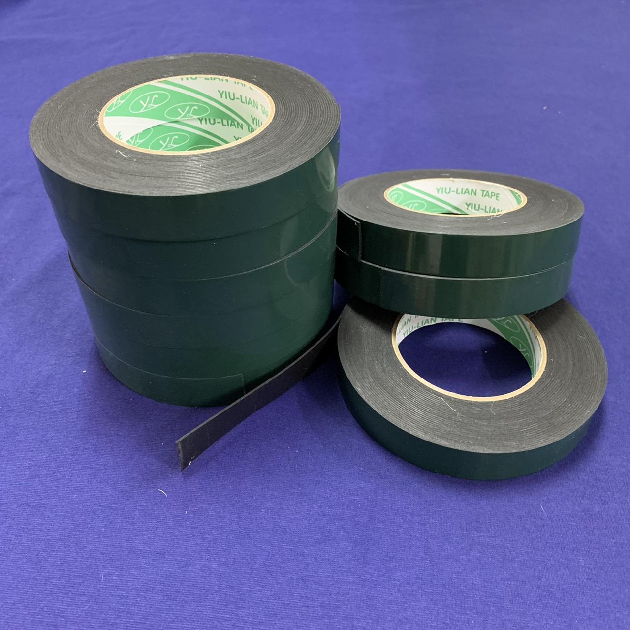 綠PE膜-黑色雙面泡棉膠 1