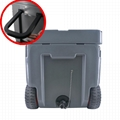 New design 50QT plastic rotomolded cooler box with wheels 4