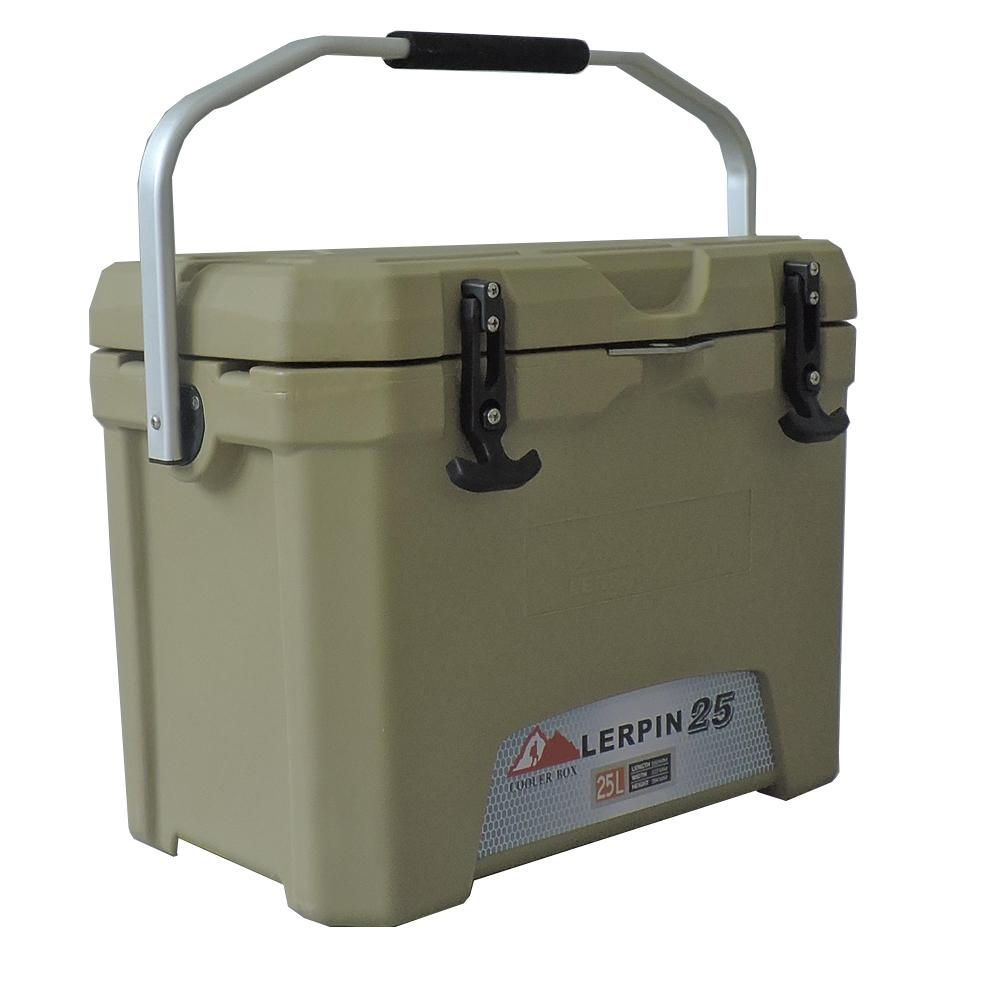 Lerpin rotomolded aluminum handle plastic blood transport ice cooler box 1