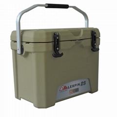 Lerpin rotomolded aluminum handle plastic blood transport ice cooler box