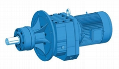 Coaxial Inline Helical Gearbox Flange mounted with extended bearing hub