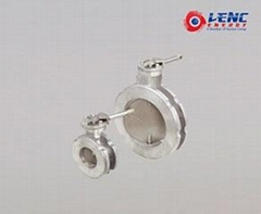 Small flow resistance Butterfly va  es Low torque with 90°