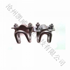 Cavey greenhouses cross U double pipe clamp clasp
