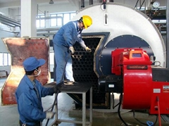 3 ton horizontal gas oil fired steam boiler for candy factory Sugar Factory