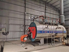 1.5ton/H Horizontal Gas Oil Steam Boiler for textile printing and dyeing
