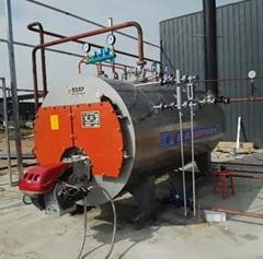 500kg Fuel Gas Oil Dual Fuel Packaged Steam Boiler with European Burner