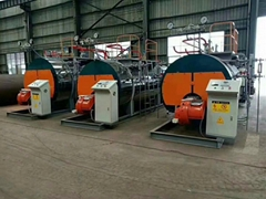 8t/H Horizontal Type Oil Gas Fired Steam Boiler For Corrugated Paper Machine