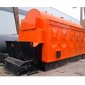 5ton Chain Stoker Grate Biomass pellet Coal Fired Steam Boiler For Feed Mill