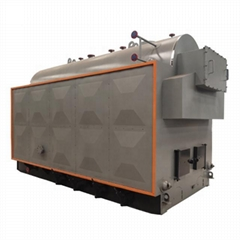 2 ton 150 Psi DZH manual type wood fired steam boiler for fertilizer factory
