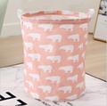 canvas fabric cloth storage basket toys basket for kids storage  1