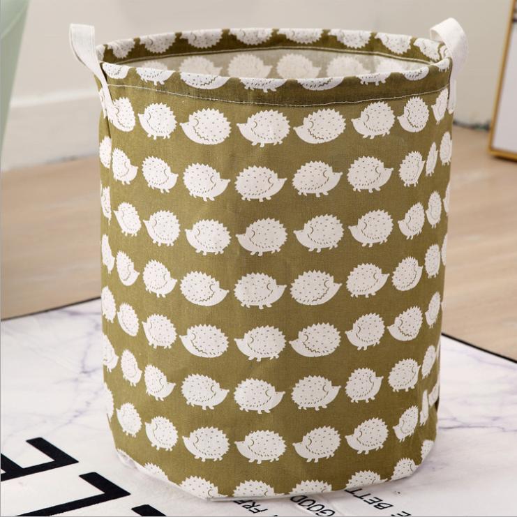 canvas fabric cloth storage basket toys basket for kids storage  2