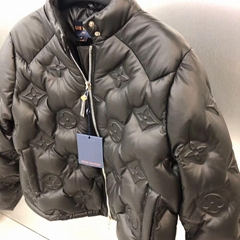 Monogram EMBOSSED Flower Leather Down Jacket    PARKA BOYHOOD coat