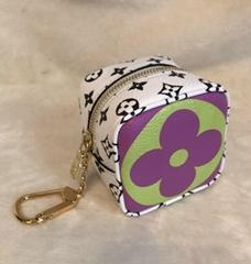LOUIS VUITTON GIANT MONOGRAM MON CUBE Coin Purse Bag Charm LV purse wallet bags
