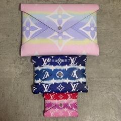 Louis Vuitton Escale Kirigami Pochette Tie Dye Giant Logo Monogram Clutch Bag LV