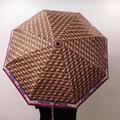 FENDI Zucca Canvas Folding Umbrella Travel Automatic Windproof UV Protection