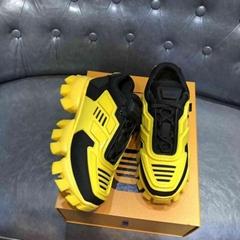 Cloudbust Thunder Knit Sneakers Black Yellow men platform shoes