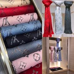 Louis Vuitton Monogram Echarpe Logomania Scarf  shop designer luxury brand wraps