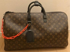 Virgil Abloh Keepall 50 Hand Shoulder Bag Monogram Brown handbag