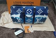 Escale Keepall 50 Duffle Bag M45117 Blue Monogram    travel bag