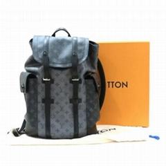 Christopher PM Backpack Bag M45419 Monogram Eclipse Reverse New